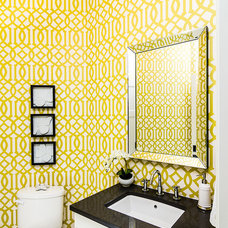 Traditional Powder Room by Lisa Clark Design
