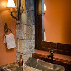 Traditional Powder Room by Patty Jones Design, LLC