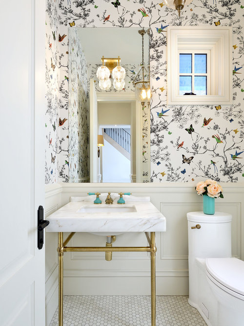 Best 100 Traditional Powder Room Ideas & Remodeling Pictures | Houzz