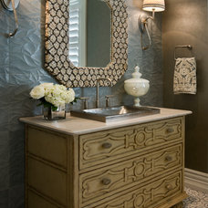 Traditional Powder Room by Zoltan Construction LLC