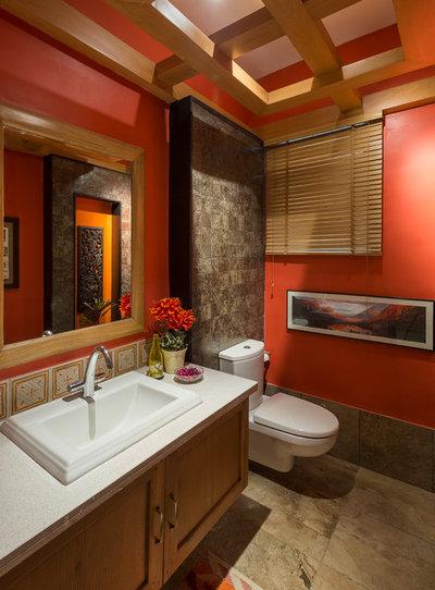 Asian Powder Room by Shefali Singh, Architect