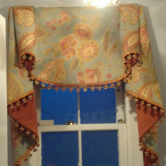 traditional powder room by CPDC Decor Custom Window Treatments