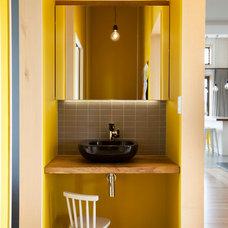 Contemporary Powder Room by Creative Arch