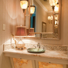 Traditional Powder Room by One swanky shop