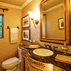 Traditional Powder Room by Debra Campbell Design
