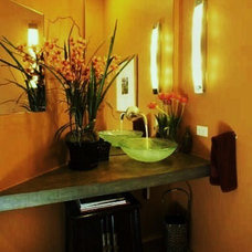 Contemporary Powder Room by Debra Campbell Design