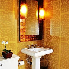 Asian Powder Room by Debra Campbell Design