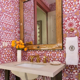 Example Of A Transitional Powder Room Design In Seattle
