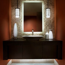 Contemporary Powder Room by Rondi - the art of space
