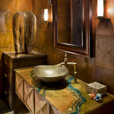 Traditional Powder Room by Esther Boivin Interiors