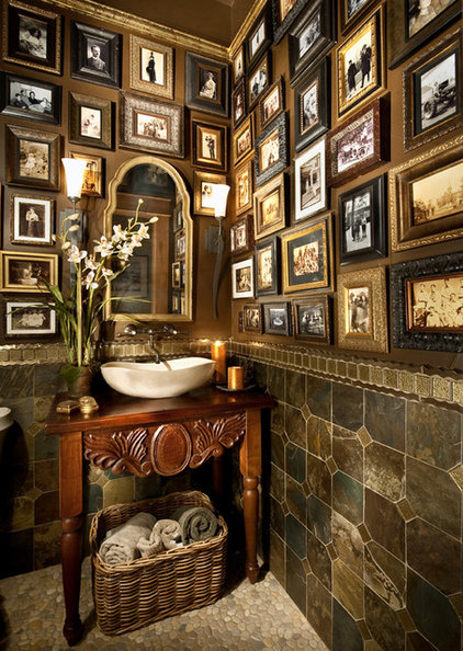 Mediterranean Powder Room by Terrie Hall