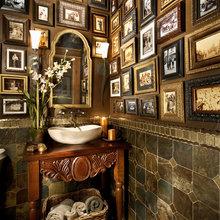 Bath Details, Wood n tile work