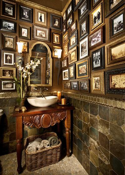 Mediterranean Powder Room by Terrie Hall