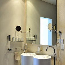 Contemporary Powder Room by HABITALY by marcopolo