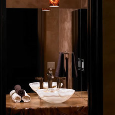 Contemporary Powder Room by LUXE INTERIORS