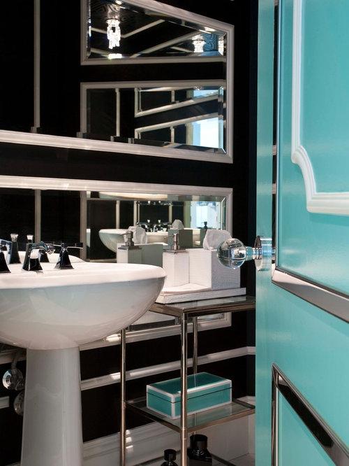 Eclectic powder room idea in Miami