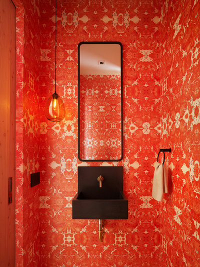 Modern Powder Room by Carney Logan Burke Architects
