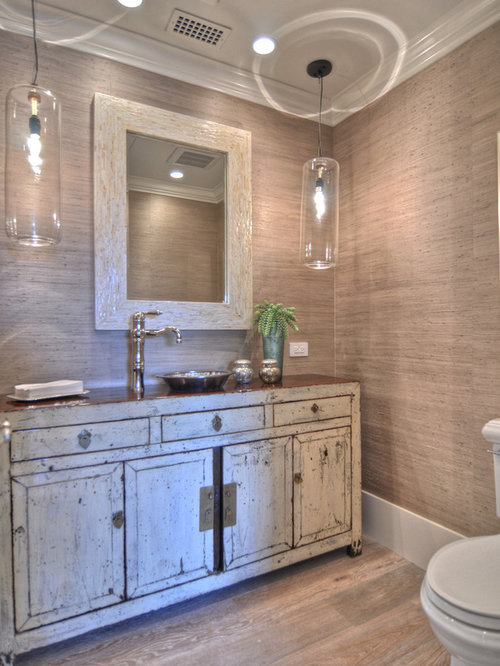 Example of a classic powder room design in Orange County. Beach Bathroom Ideas   Houzz