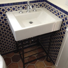 Traditional Powder Room by Donahue Paye Interior Design