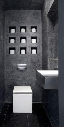 Toilet paper storage home design ideas pictures remodel and decor - Muur niche ...