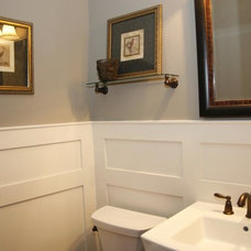 Traditional Powder Room by Schaub+Srote, Architects | Planners | Interiors