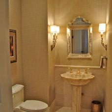 Traditional Powder Room by Albertine Company, LLC