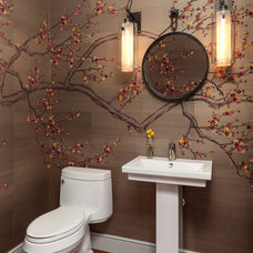 Eclectic Powder Room by Cravotta Interiors