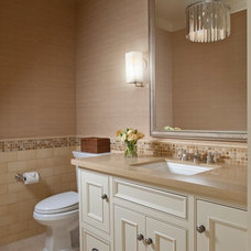 Farmhouse Powder Room by Andrea Bartholick Pace Interior Design