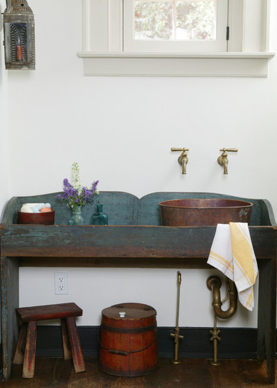 Rustic Powder Room by Peter Zimmerman Architects