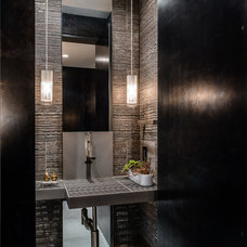 Contemporary Powder Room by Garret Cord Werner Architects & Interior Designers