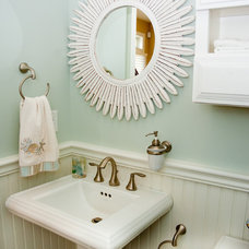 Beach Style Powder Room by Paul R. Maina Builders