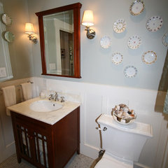 traditional powder room Duggan residence