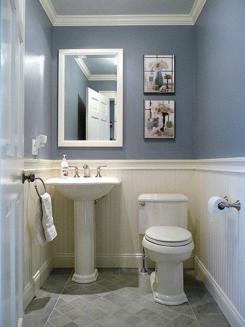 Photos et id es d co de wc et toilettes avec un mur bleu - Deco van wc ...