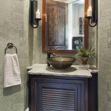 Traditional Powder Room by Morning Star Builders LTD