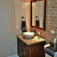 Traditional Powder Room by Kelly Brasch Interiors