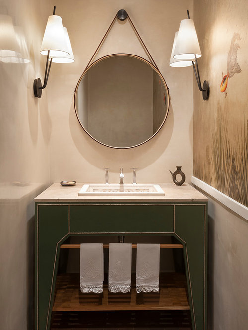 powder room mirror houzz