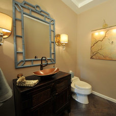 Asian Powder Room by Susan Deneau Interior Design