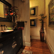 Eclectic Powder Room by The Design Firm