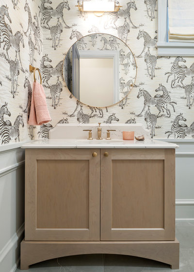 Beach Style Powder Room by Magpie Interiors