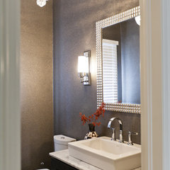 eclectic powder room by BiglarKinyan Design Partnership Inc.