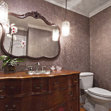 Eclectic Powder Room by Alison Besikof Custom Designs