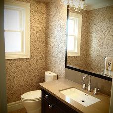 Contemporary Powder Room by BiglarKinyan Design Planning Inc.