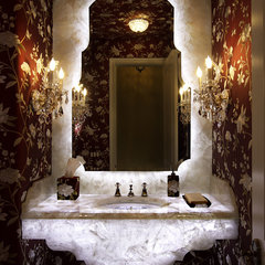 eclectic powder room by Ernesto Garcia Interior Design, LLC