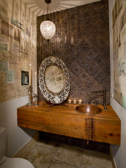 Wood Slab Vanity Home Design Ideas Pictures Remodel And Decor