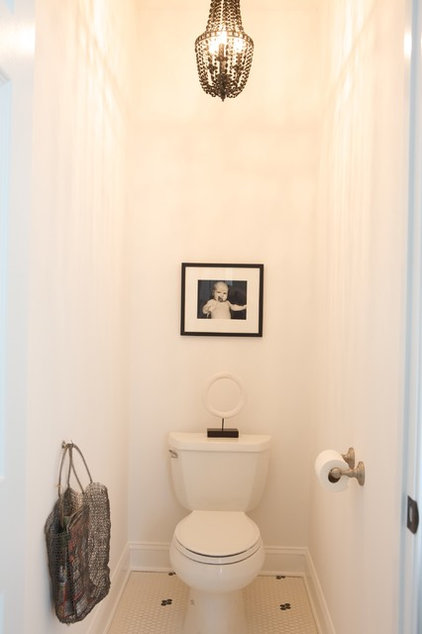 Contemporary Powder Room Eclectic Powder Room