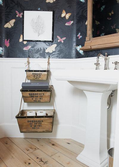Eklektisch Gästetoilette Eclectic Powder Room