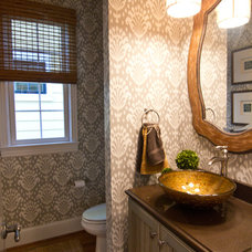 Eclectic Powder Room by Leslie Lewis & Associates