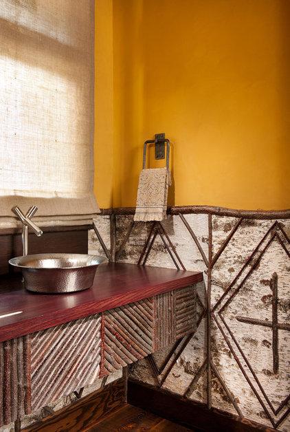 Rustic Powder Room by Native Trails