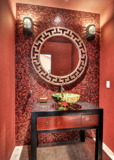 Asian Powder Room by m.a.p. interiors inc. / Sylvia Beez