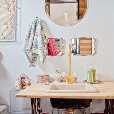 Eclectic Powder Room by Sarah Natsumi Moore